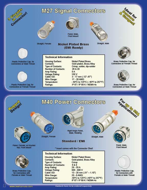 M27 Signal and M40 Power Circular Connectors-Circular Connector ...