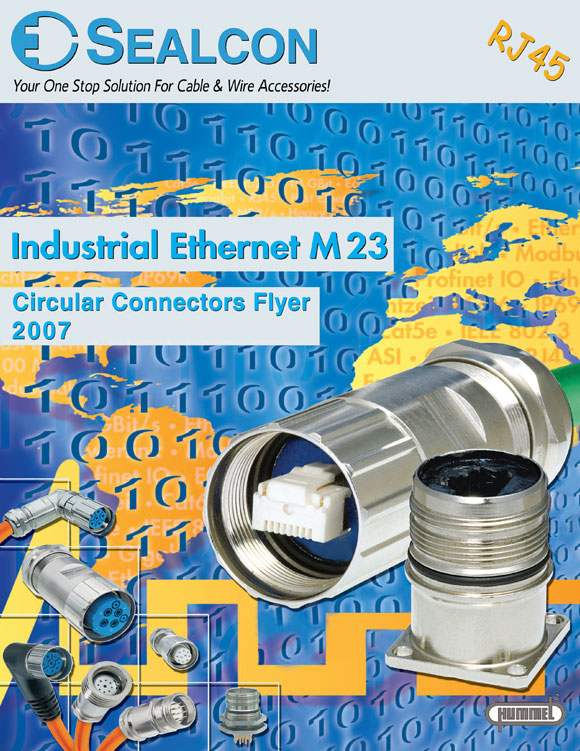 M23 Circular Connectors - RJ45 Industrial Ethernet, Front Cover