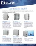 Sealcon Polycarbonate Enclosures Security Latches for Integra Line.