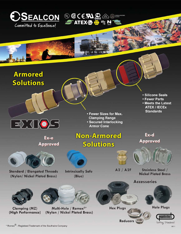 EXIOS Explosion Proof Cable Glands Flyer-Circular Connector