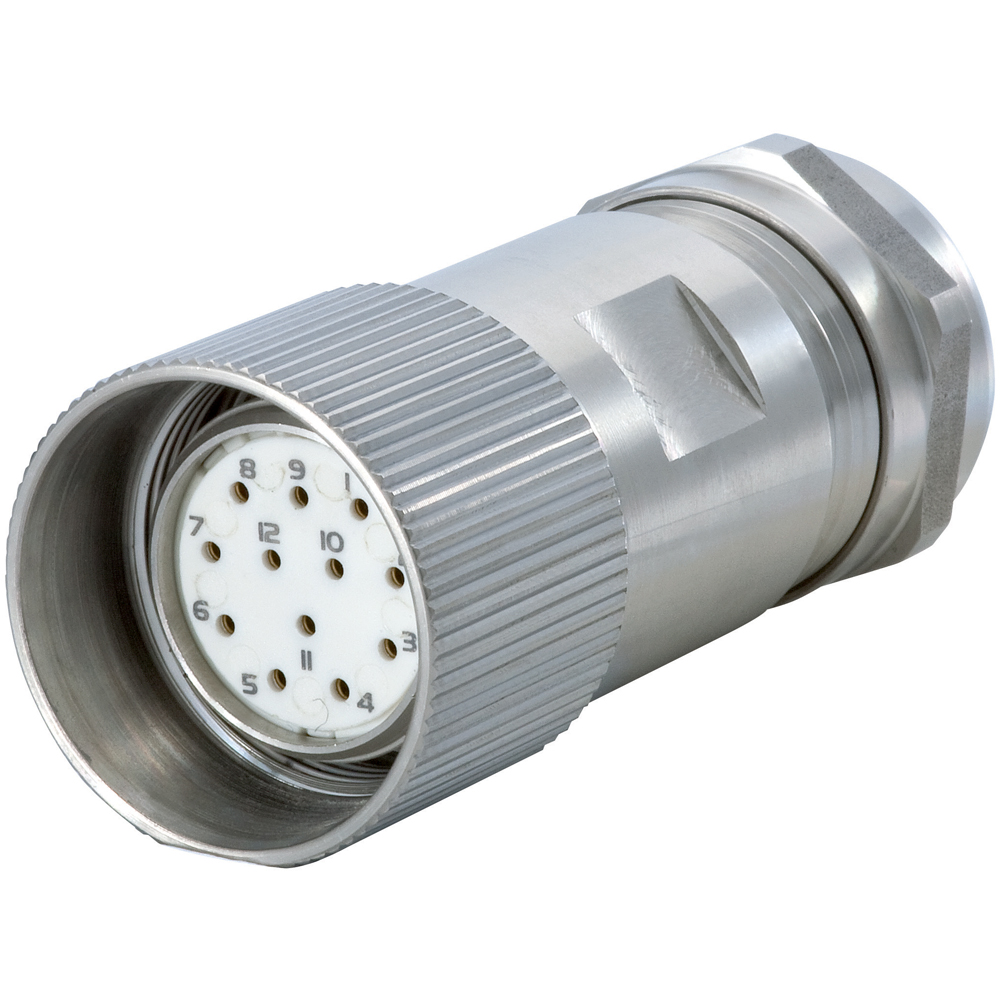 Steel Cable Connectors : M signal inox stainless steel straight connector
