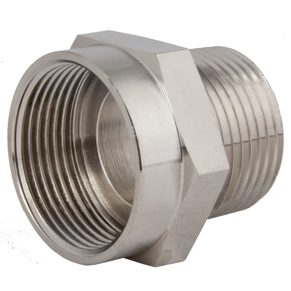 Thread adapters npt to metric threads strain relief